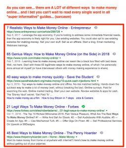 ways to make money analysis paralysis
